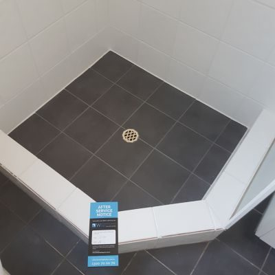 after fixing leaking shower
